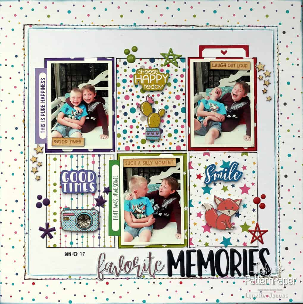 Bon Crayon Single Page Layout - Favourite Memories