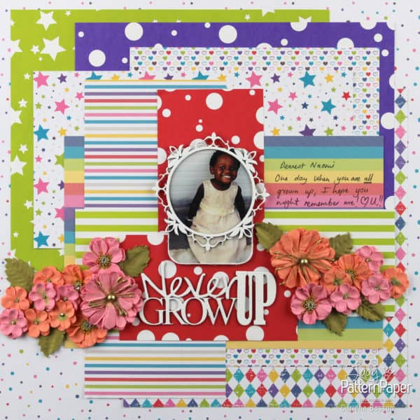 Bon Crayon - Cariena Layout - Never Grow Up