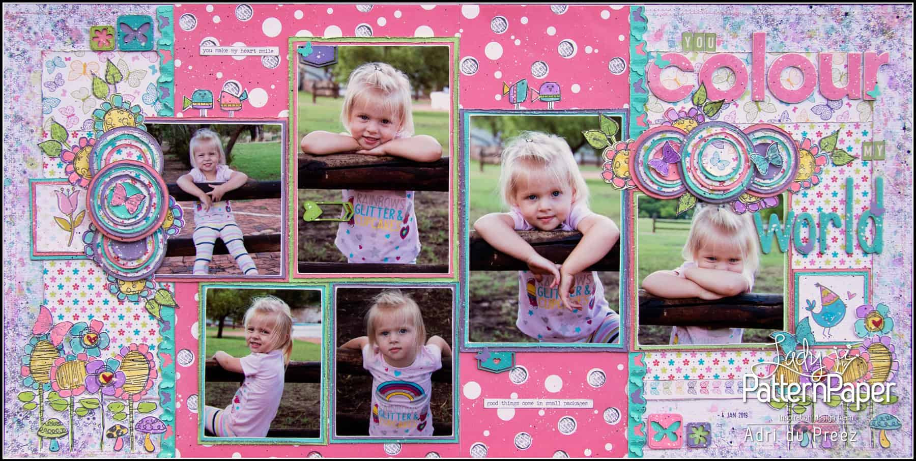 Bon Crayon Double Page Layout by Adri