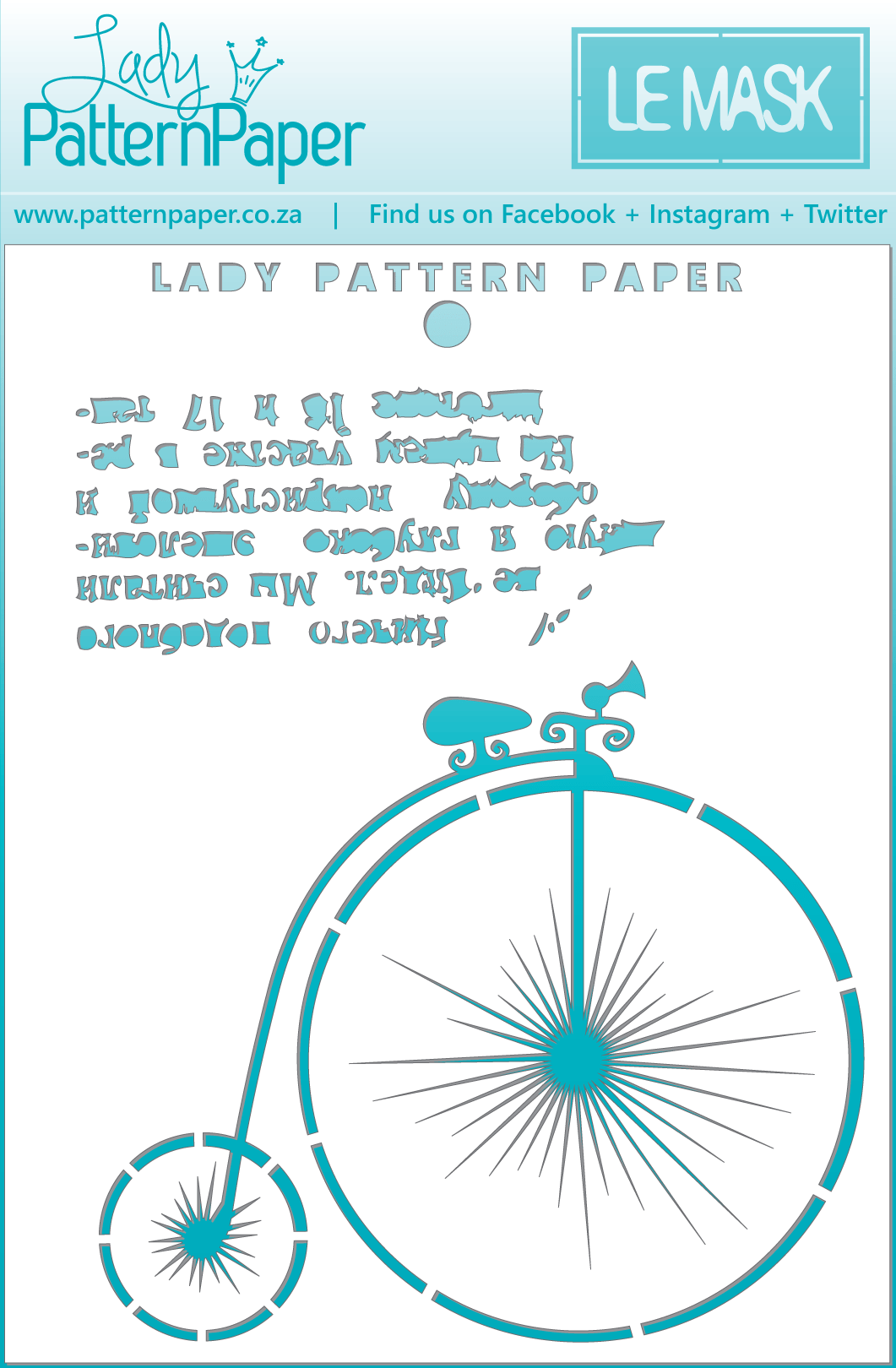 LPPM0001 - Le Mask - Penny-Farthing Mini Mask (60x155mm)