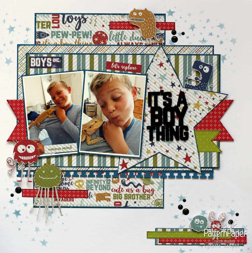 It's a Boy Thing! - Lynette Layout