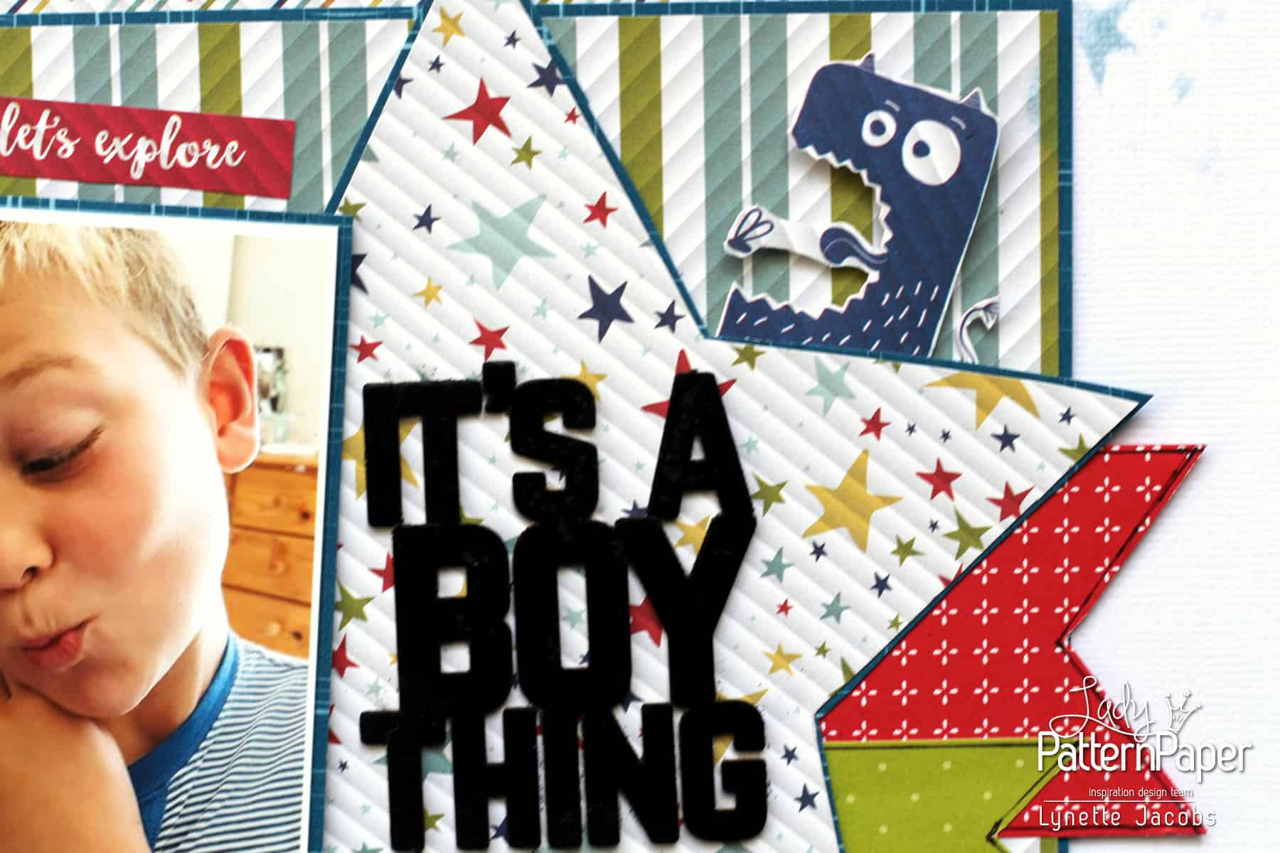 It's a Boy Thing! - Chipboard