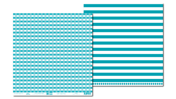 PP0012 - Basic Essentials - Gingham - Intense Teal