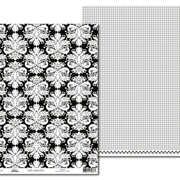 LPP0047 - Basic Essentials - Damask - Black & White