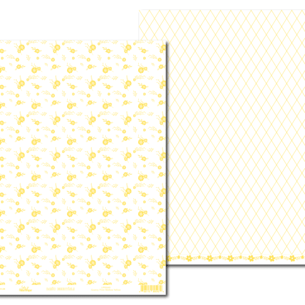 LPP0049 - Basic Essentials - Granny Print - Mellow Yellow