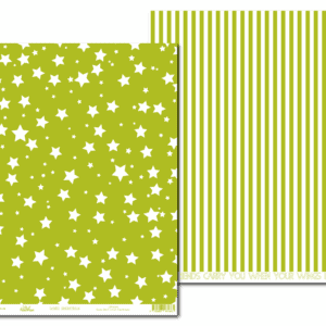 LPP0054 - Basic Essentials - Sassy Stars - Green Chartreuse