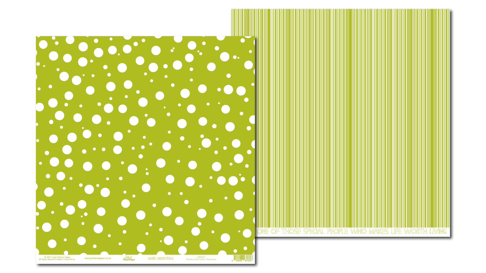 LPP0057 - Basic Essentials - Dreamy Dots - Green Chartreuse