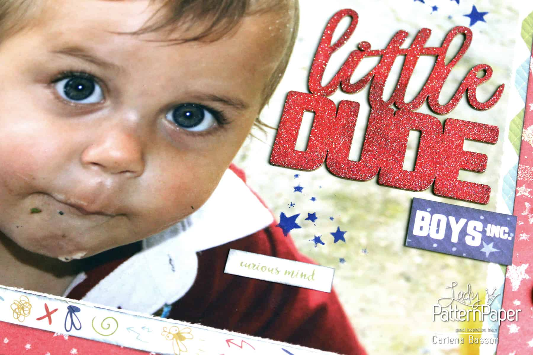 Little Dude Scrapbook Layout - Boys Inc.