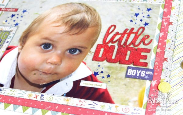 Little Dude Scrapbook Layout - Curious Mind