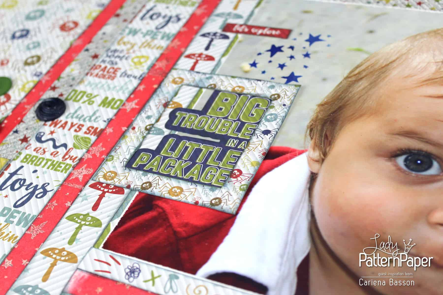 Little Dude Scrapbook Layout - Big Trouble