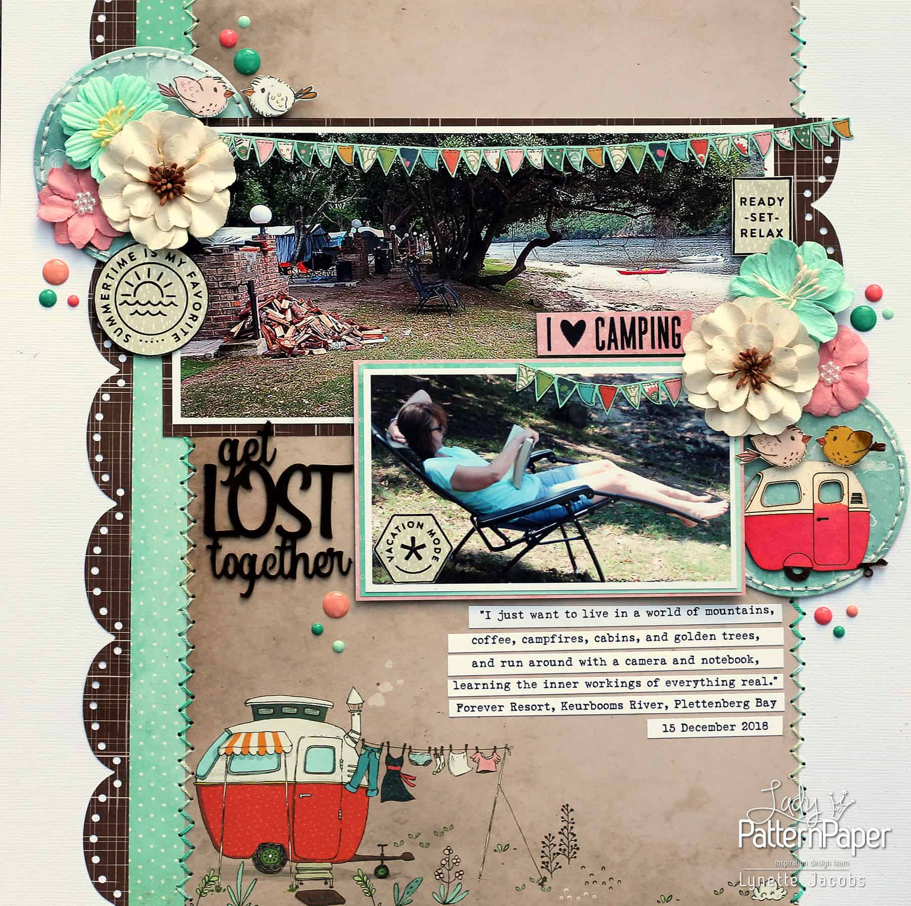 I Love Camping - Travel Buddies - Layout