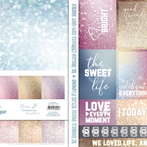 LPPB0039 - Basically Textured - Sparkly Paper Pack