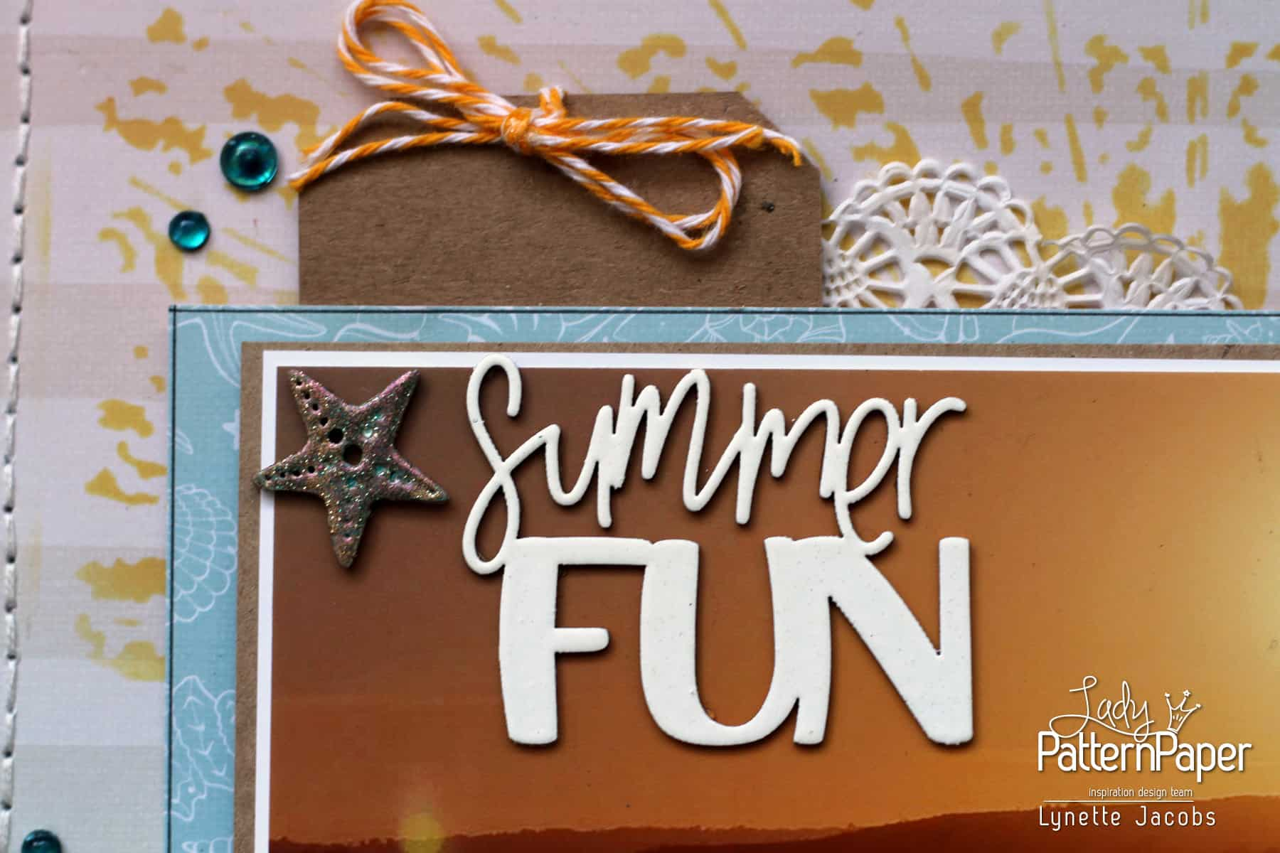 Lynette's Summer FUN Layout - Chipboard Title