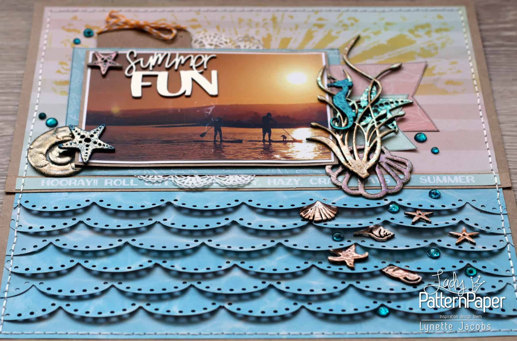 Lynette's Summer FUN Layout - Angle