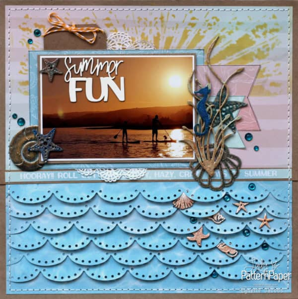 Lynette's Summer FUN Sun O'Clock Layout