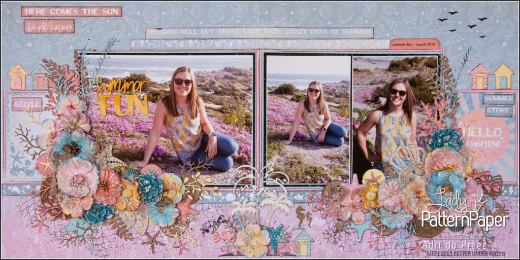 Sun O'Clock Summer Fun Layout