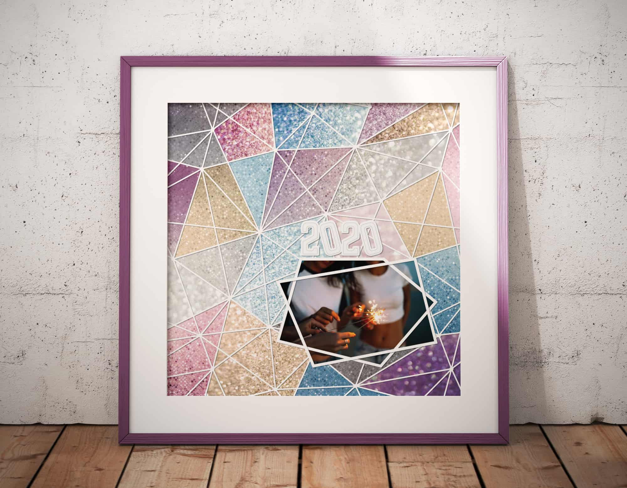 Sparkly Layout in Frame