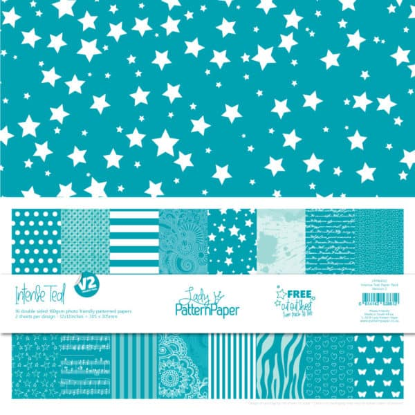 LPPB0032 - Intense Teal - Paper Pack V2