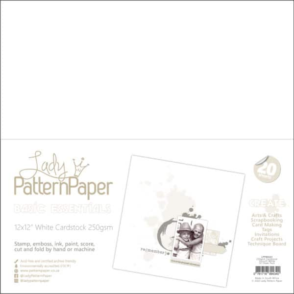LPPB0041 - Smooth White Cardstock - 250gsm (20 Pack)