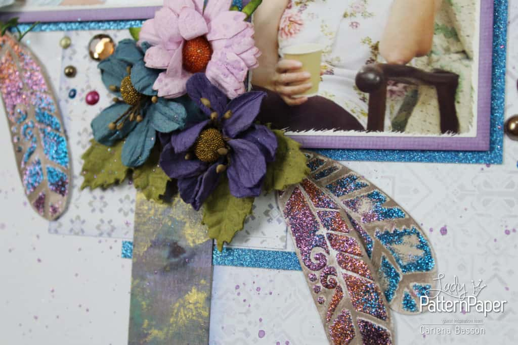 Find Joy Layout - Bohemian Muse Feathers Stencil