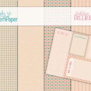 Lady Pattern Paper - Lockdown Freebies