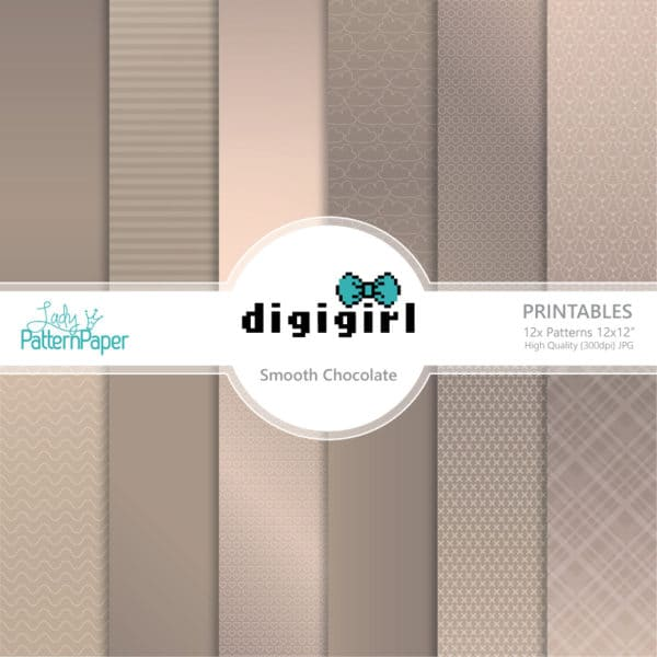 DigiGirl Smooth Chocolate Digital Papers