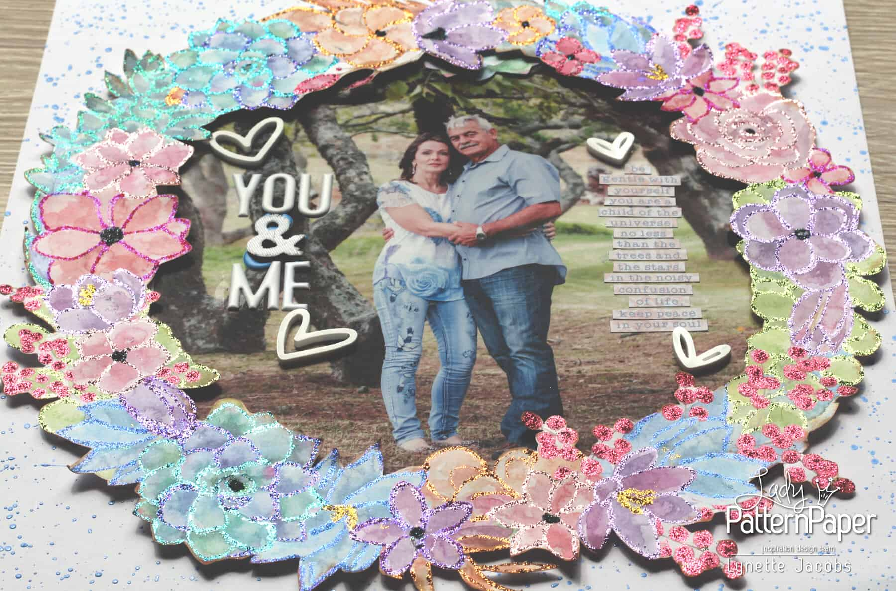 You And Me - Bohemian Muse Layout - Angle