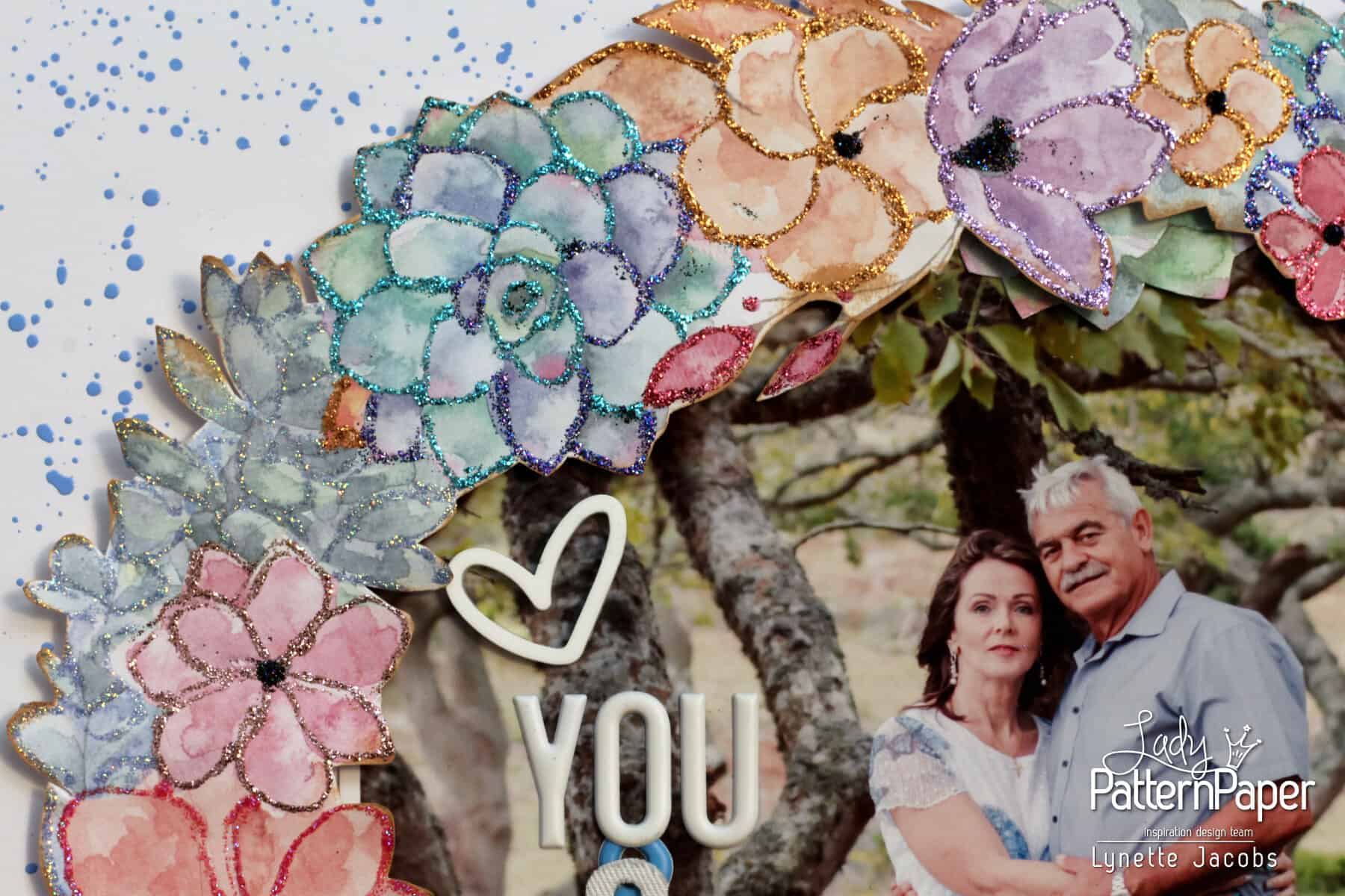 You And Me - Watercolour Wreath - Bohemian Muse Layout