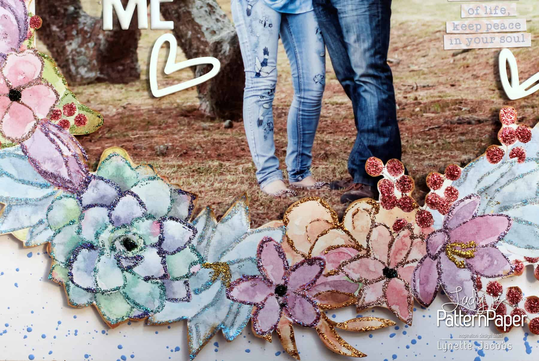 You And Me - Wreath - Bohemian Muse Layout
