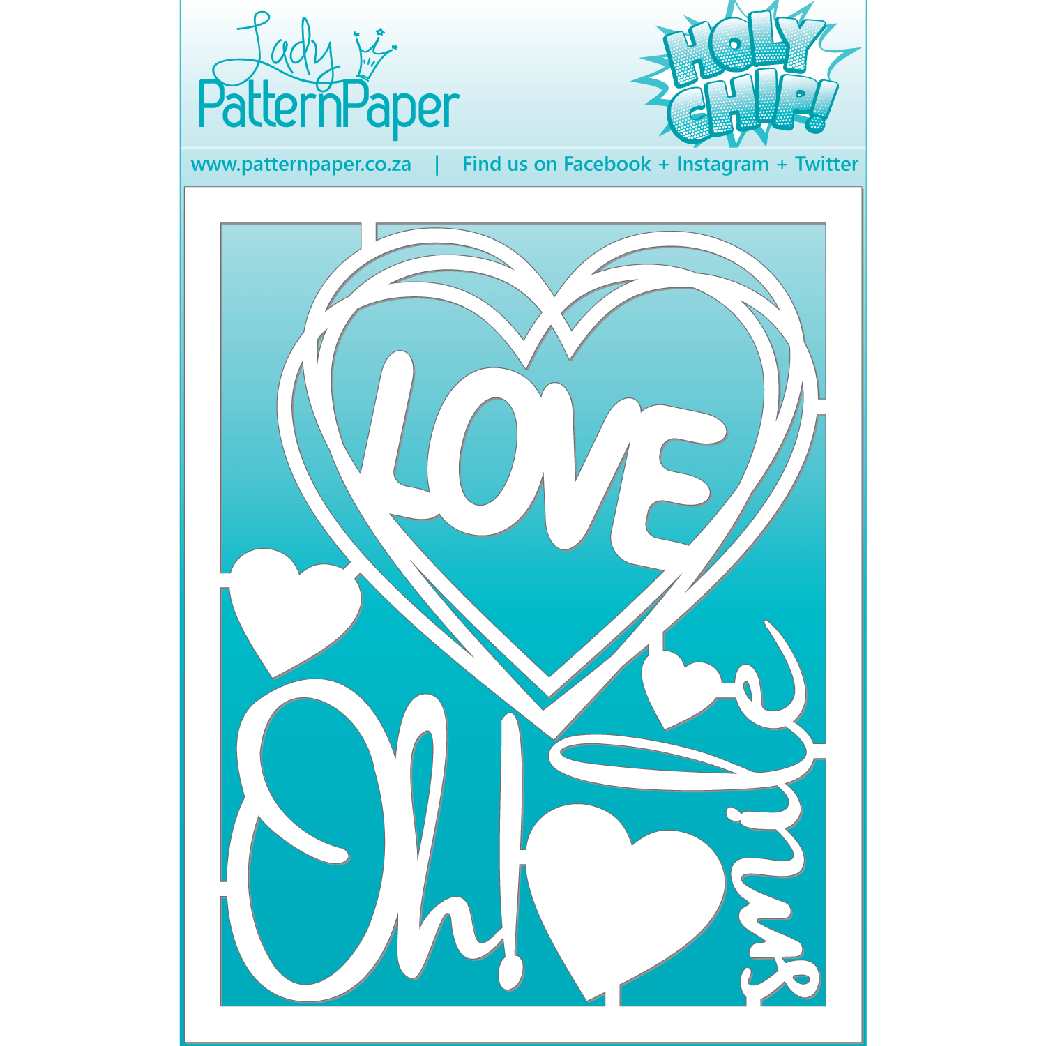 LPPC0017 - Little Moments - Oh Love Chipboard