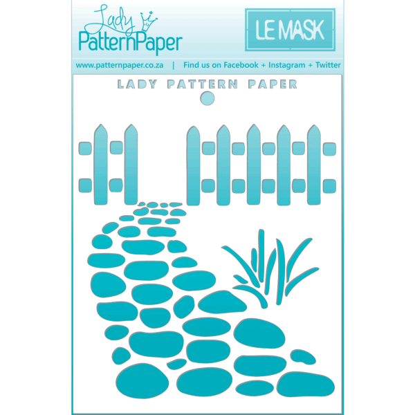 LPPM0016 - Picket Fence Stencil - 95x120mm