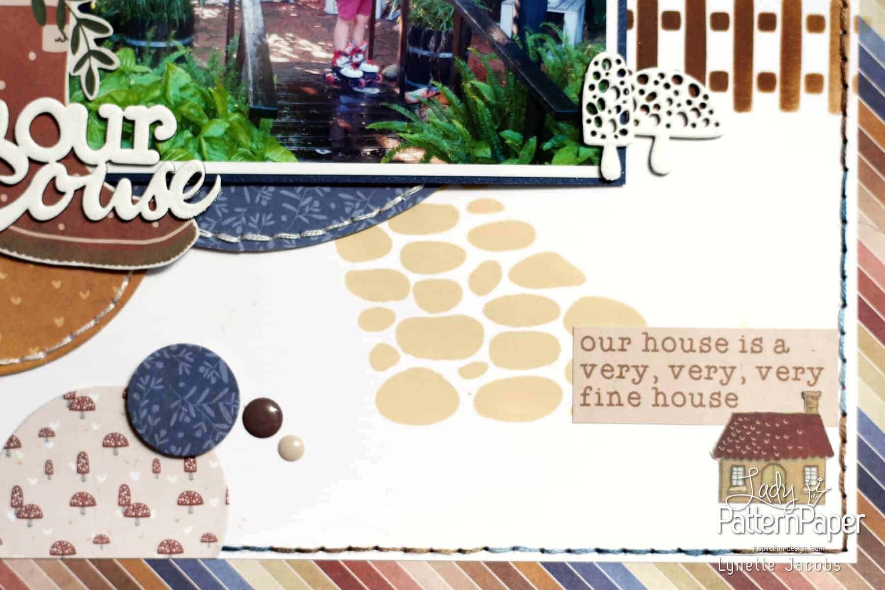 Lynette's Our House Layout - Picket Fence Stencil