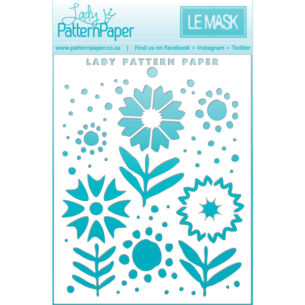 LPPM0019 - Sweet Summer - Blooms Mask - 95x120mm