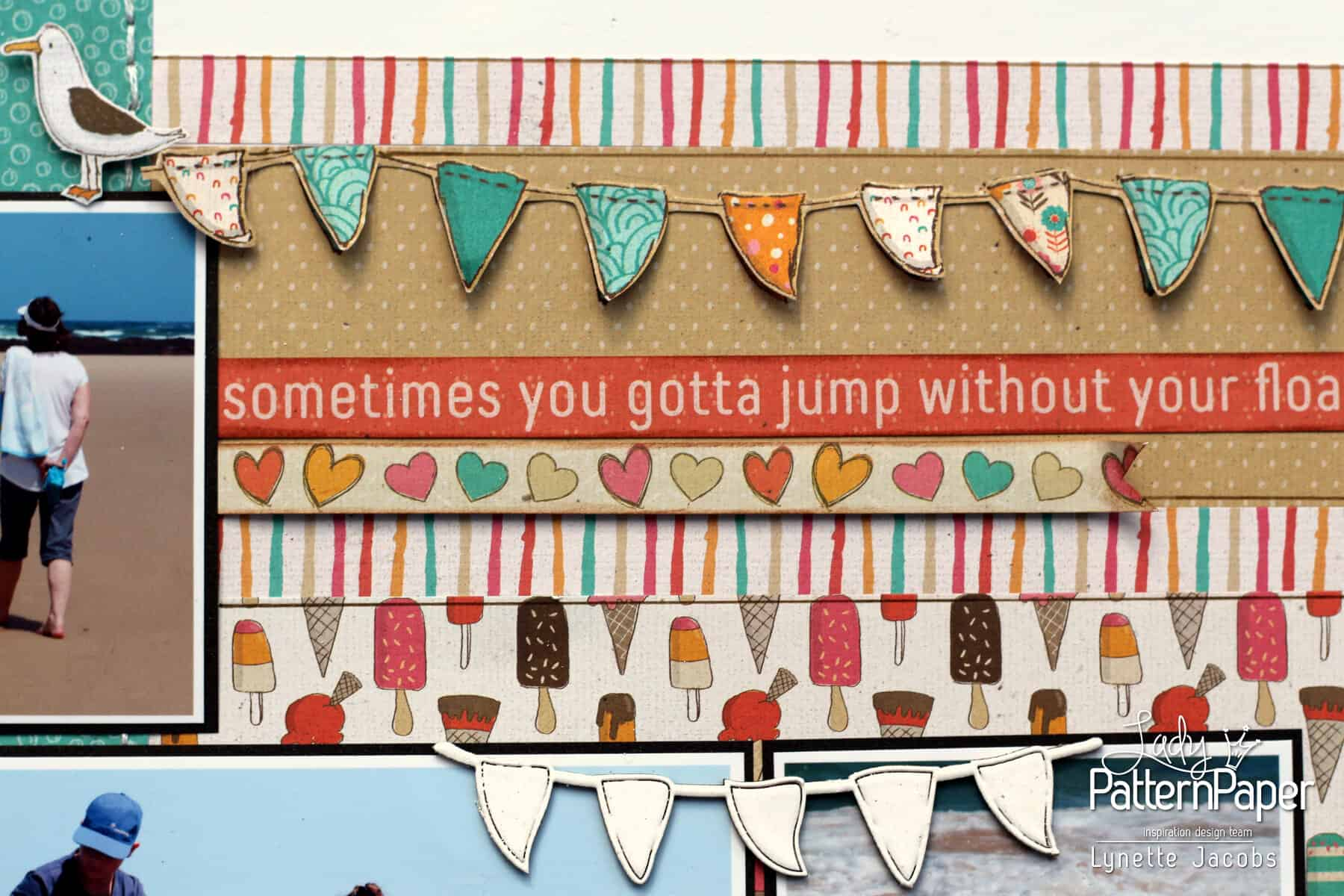 You are my happy - Bunting Chipboard