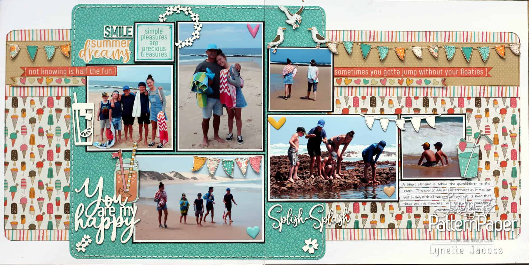 You are my happy - Sweet Summer Scrapbooking Layout