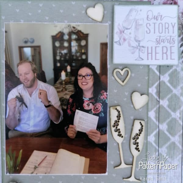 Always and Forever - Scrapbook Layout - Our Story