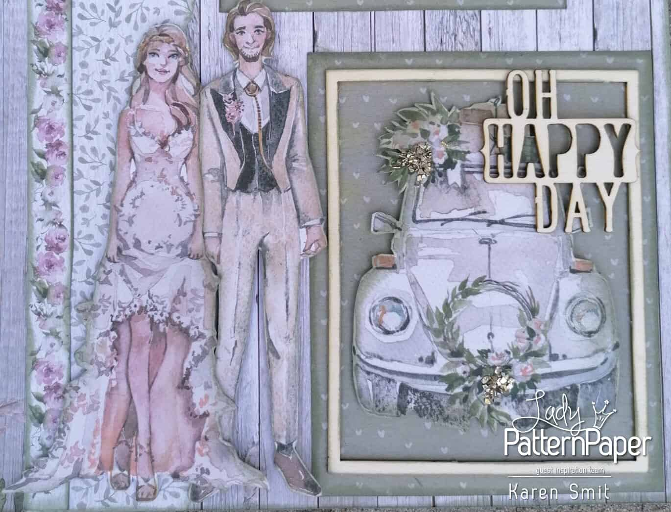 Always and Forever - Scrapbook Layout - Happy Day Chipboard
