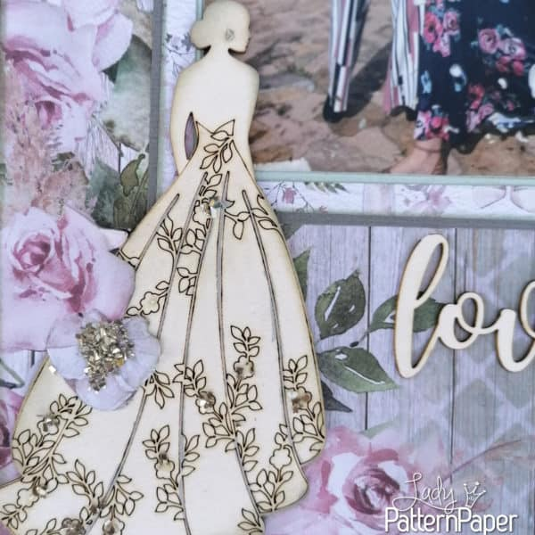 Always and Forever - Scrapbook Layout - Bride Chipboard