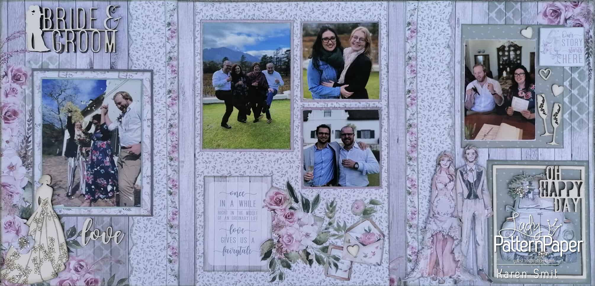 Always and Forever - Wedding Scrapbook Layout