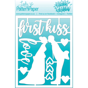 LPPC0023 - First Kiss Chipboard Set - 95x120mm