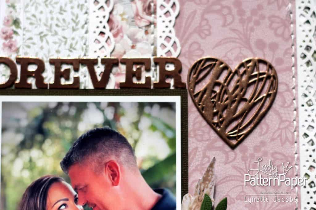 Always and Forever - Anniversary Layout - Heart