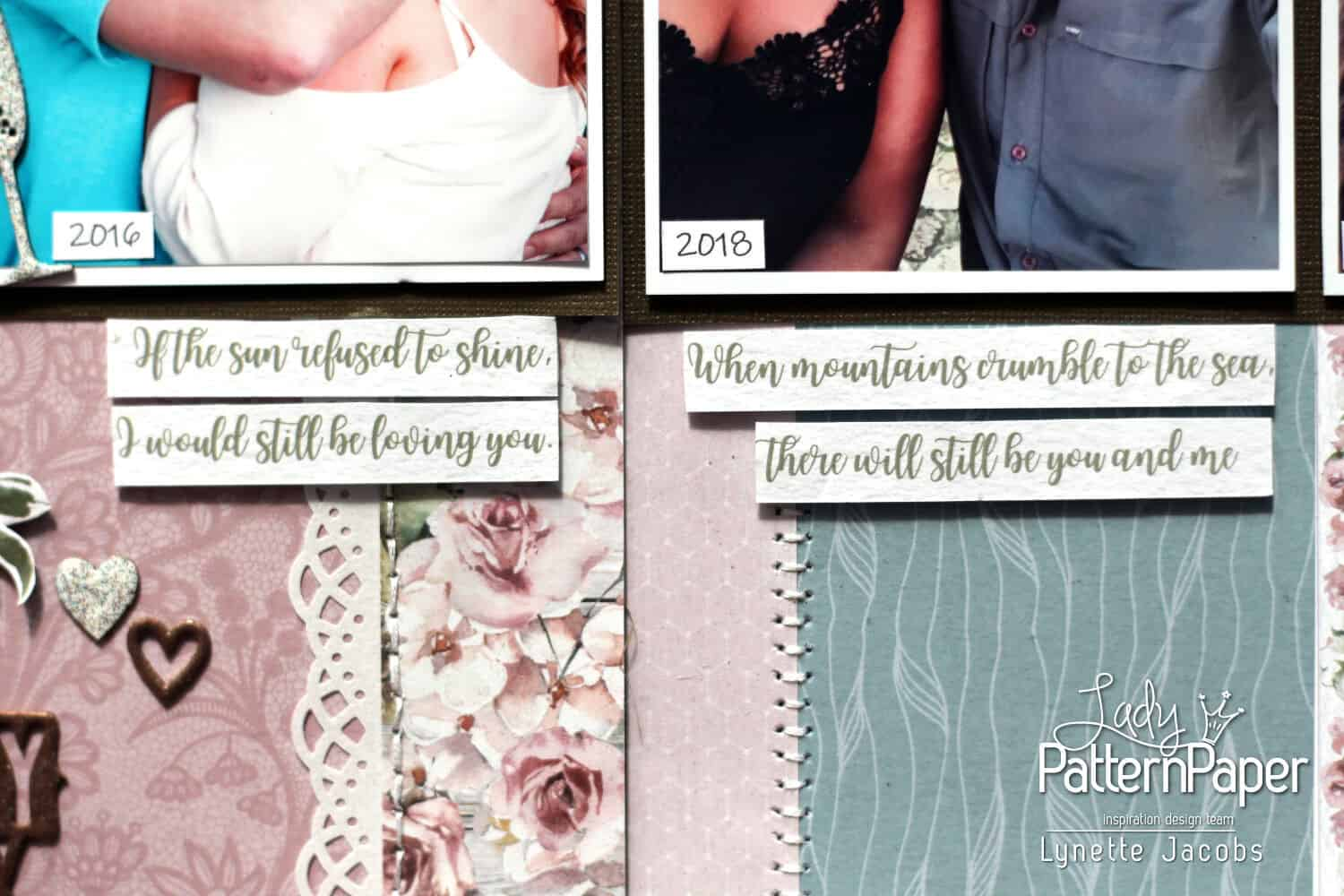 Always and Forever - Anniversary Layout - Loving You