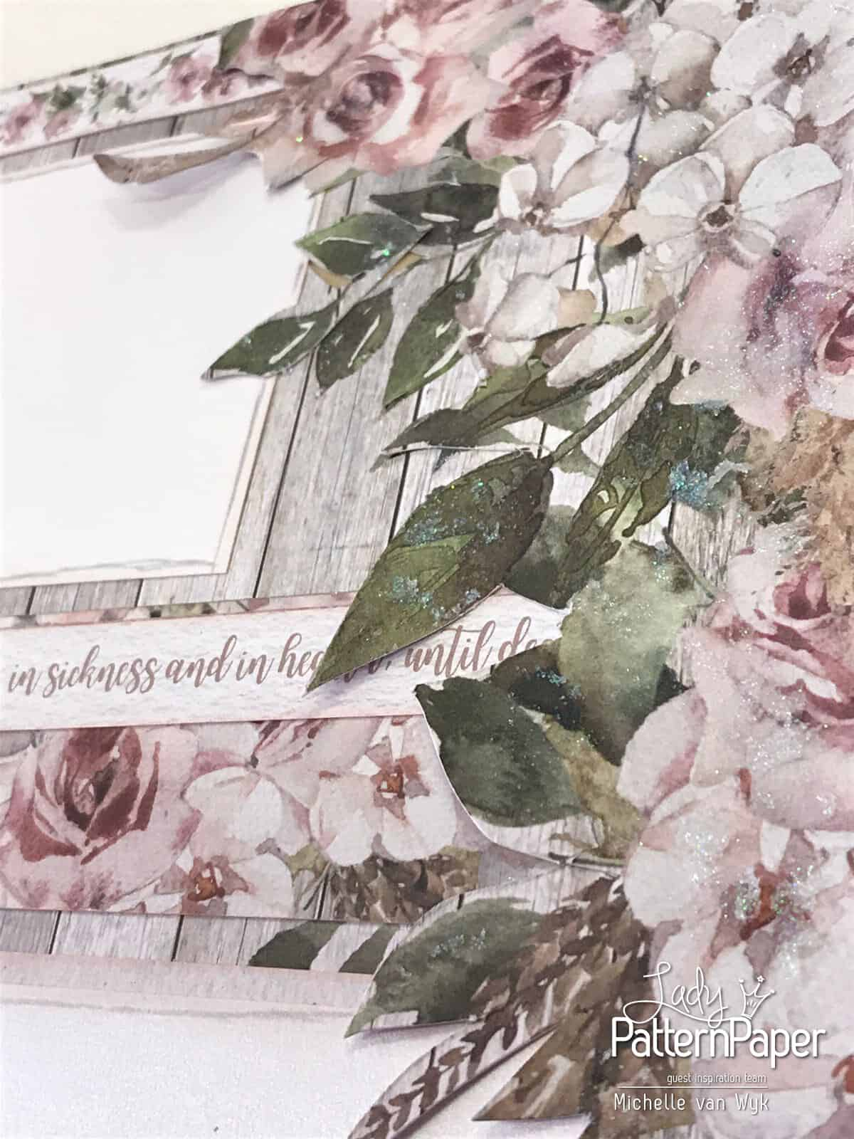 Always and Forever The Dress Double Page - Floral Frame