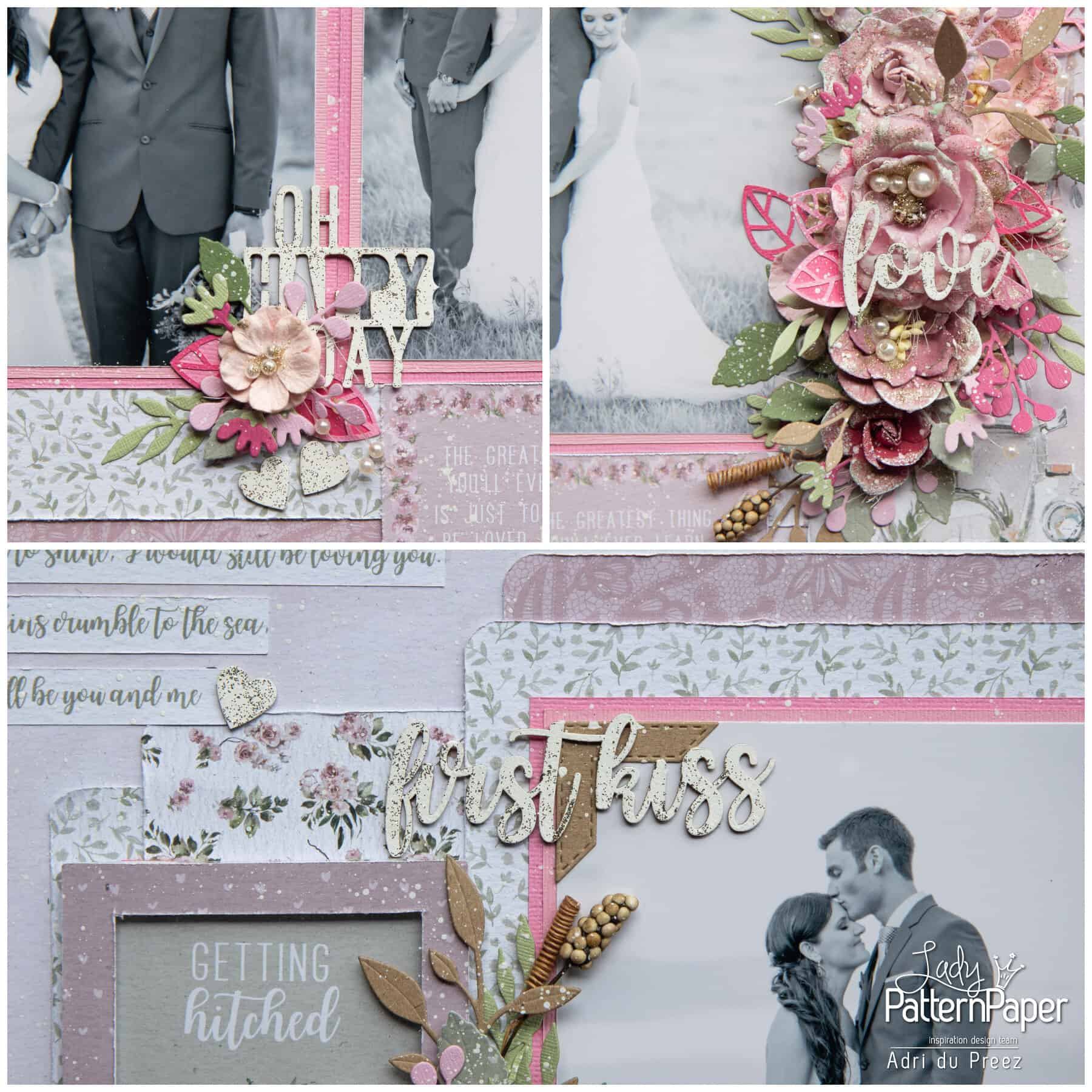 Always and Forever - First Kiss Layout - Collage