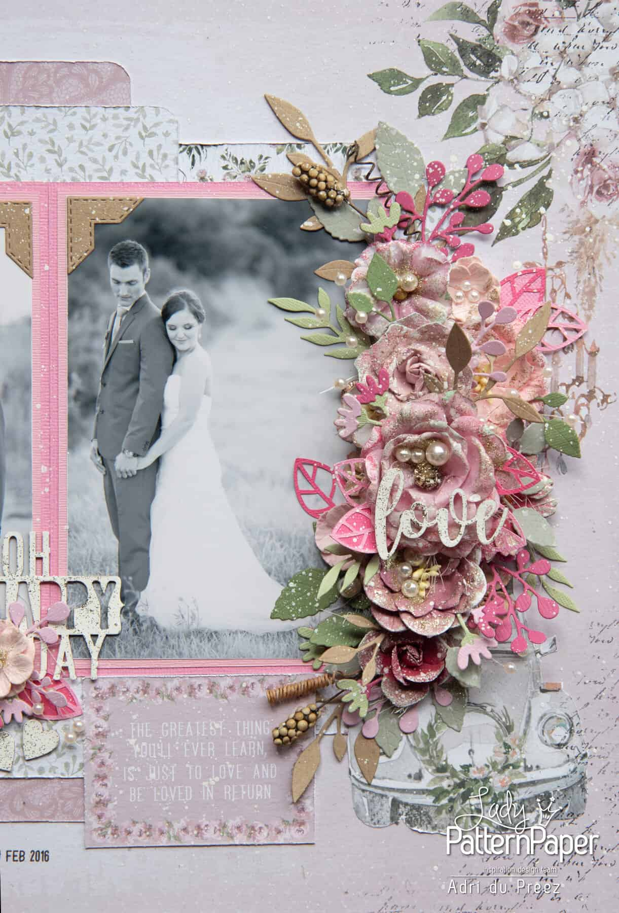 Always and Forever - First Kiss Layout - Flower Cluster