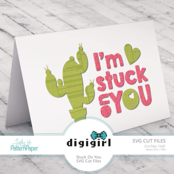 DigiGirl - Stuck on You Card