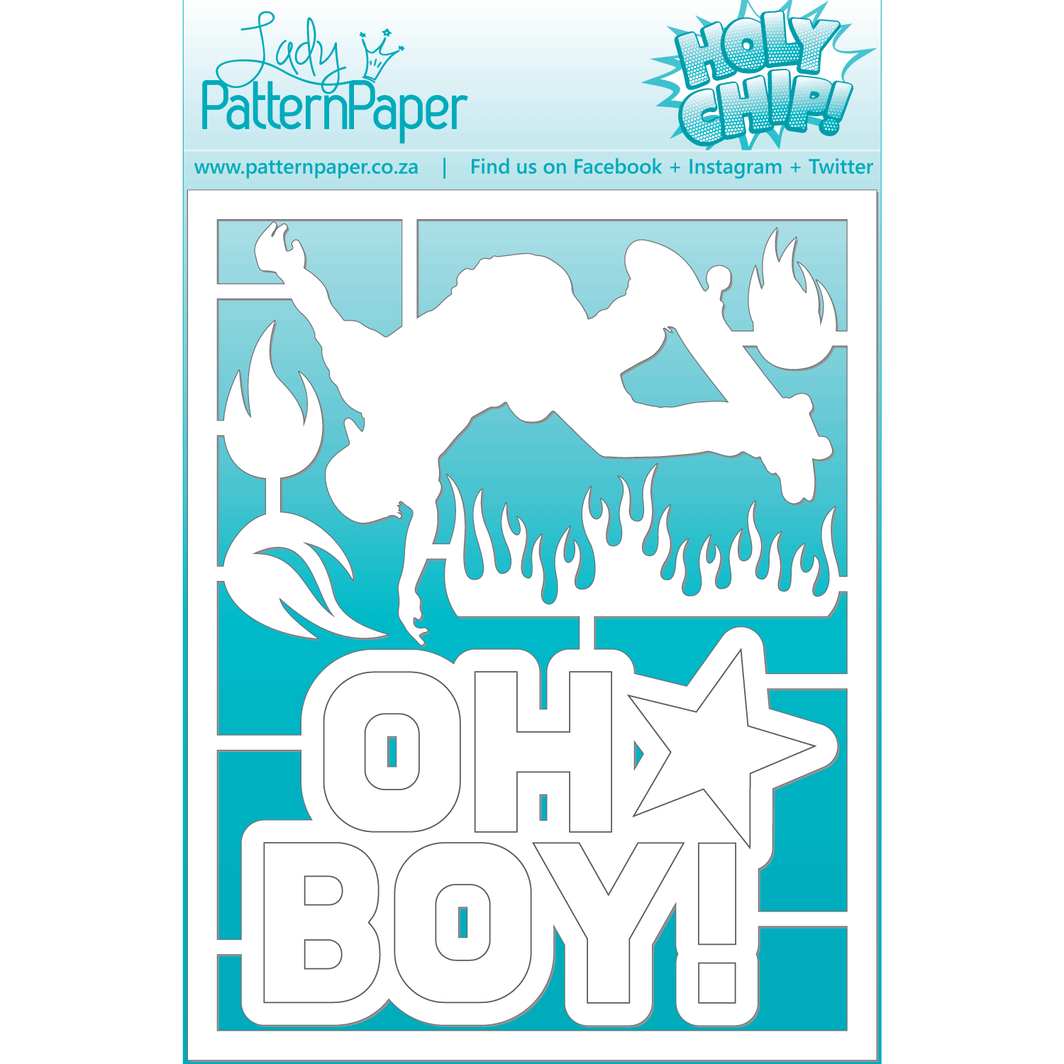 LPPC0028 - Awesome Skater Chipboard Set - 95x120mm