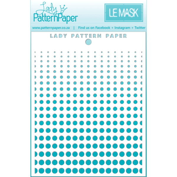 LPPM0023 - Awesome Halftone Stencil - 95x120mm