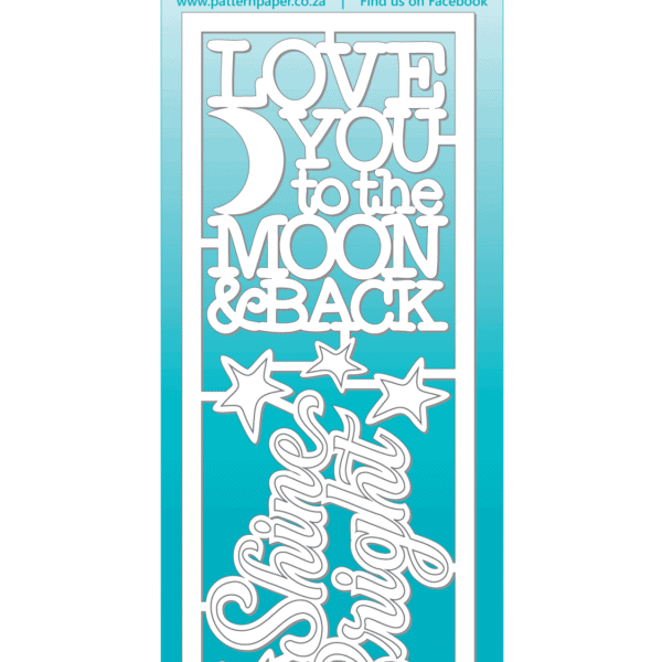 LPPC0031 - Moon Child - Bright Chipboard Titles- 60x155mm