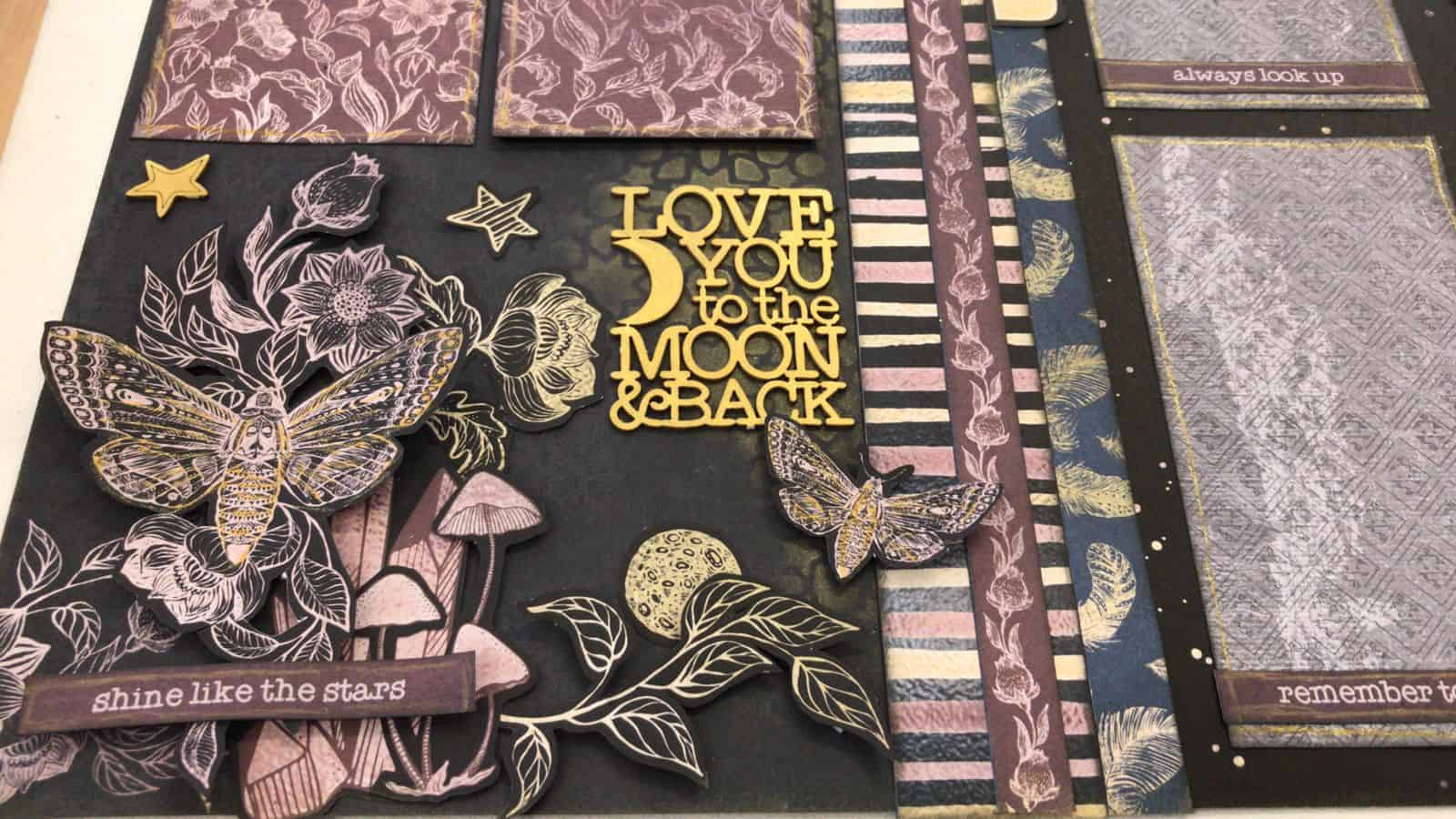 Love You To The Moon Scrapbook Kit